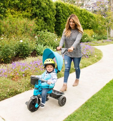 The Tricycoo 4.1 has a fully adjustable push handle with steering for parents opting to push the trike over strollers.