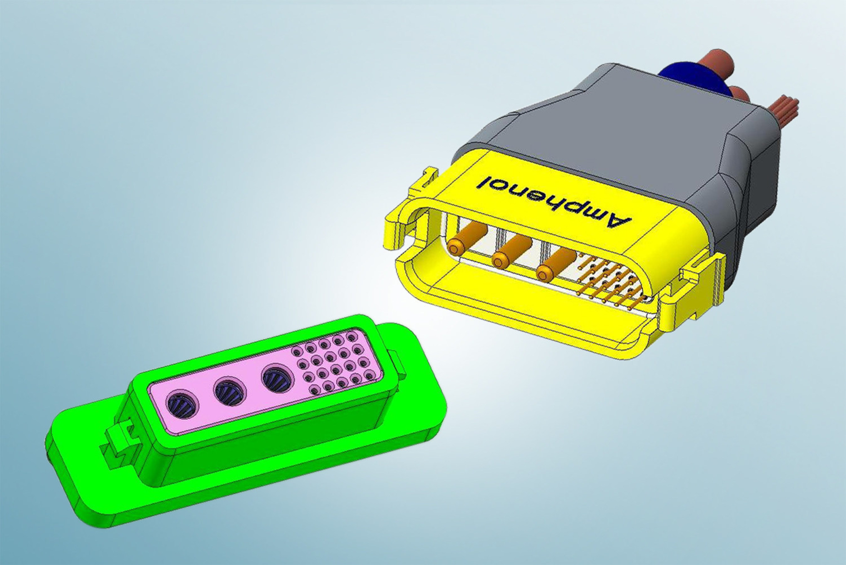 New Connection System from Amphenol Incorporates Power and Signal Contacts into One Connector