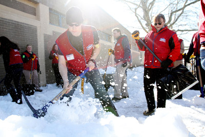 After witnessing the toll of Boston's 108.6-inch snowfall season, Lowe's Heroes employee volunteers deployed a shovel brigade to help Boston's Leahy-Holloran Community Center dig its way into spring.
