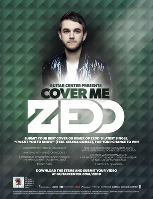 "GUITAR CENTER AND MULTI-PLATINUM GRAMMY(R) AWARD WINNING ARTIST/DJ/PRODUCER ZEDD ""PLAY IT FORWARD"" WITH COVER ME PROGRAM"