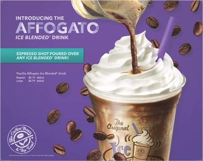 The Coffee Bean & Tea Leaf's new Summer Affogato Ice Blended drink add-in