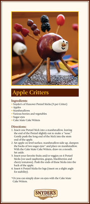 Apple Critter Recipe Card.  (PRNewsFoto/Snyder's of Hanover)