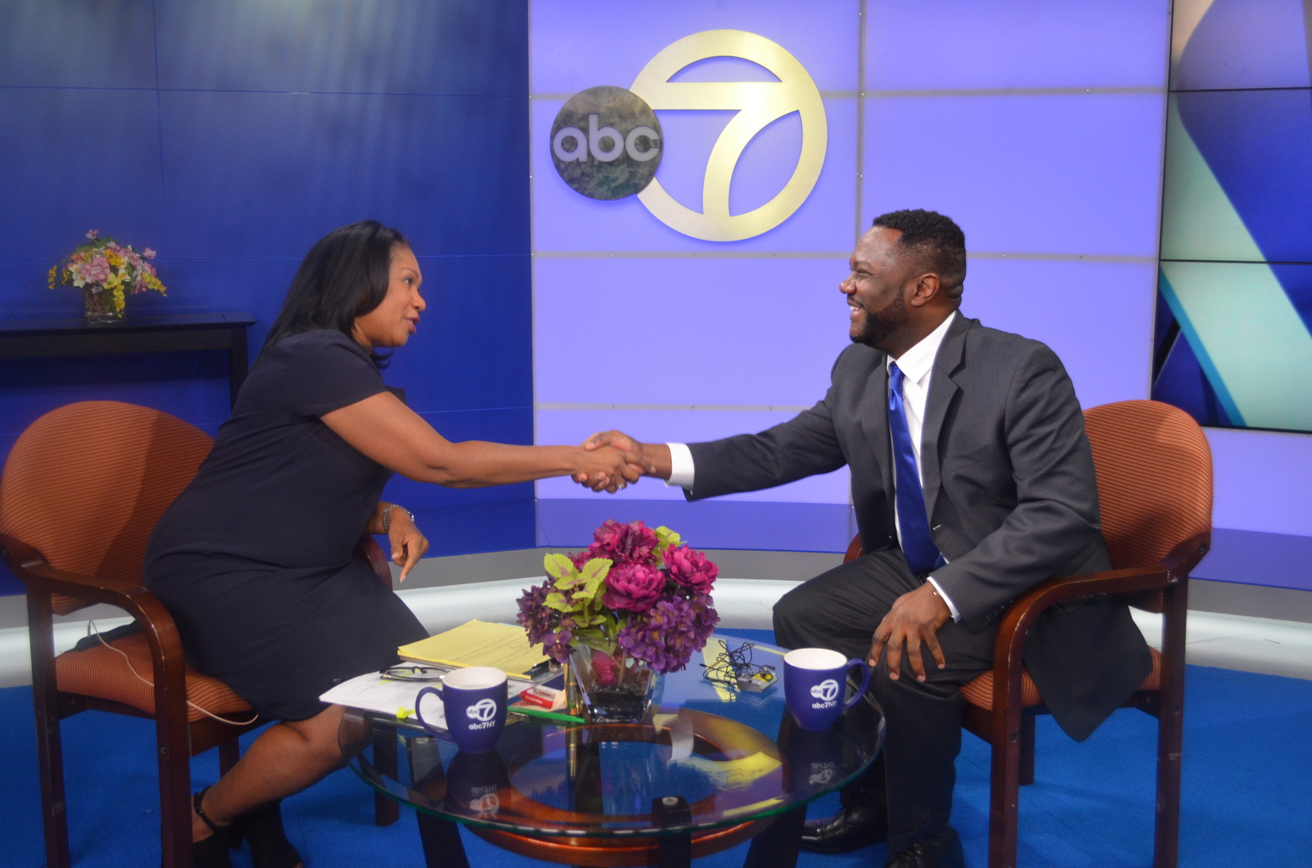 Sandra Bookman, Host of Here and Now, and Michael T. Pugh, President & CEO, Carver Federal Savings Bank