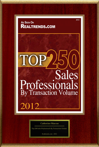 "Catherine Marcus Selected For ""Top 250 Sales Professionals By Transaction Volume""  (PRNewsFoto/American Registry)"