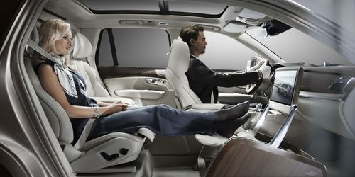 The removal of the front passenger seat allows for full forward vision creating a uniquely spacious environment. (PRNewsFoto/Volvo Car Corporation)