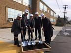 Shrine administrators break ground on new Early Childhood Development Center.