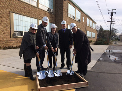 Shrine administrators break ground on new Early Childhood Development Center.