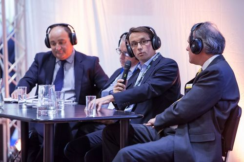 Martin Holt, CEO, Bellrock speaking at the TFM panel debate, Facilities Show, London ExCel, June 2014 (PRNewsFoto/UBM Live)