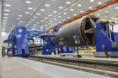 The autoclave addition is part of a 94,000 square-foot expansion to Spirit's Composite Fuselage Facility, where the company makes the carbon-fiber nose section for Boeing's 787 Dreamliner. (PRNewsFoto/Spirit AeroSystems Inc.)