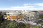 Aerial view of Classroom and Office Building from Aldrich Park, looking north. University of California, Irvine. Image courtesy of LMN Architects.