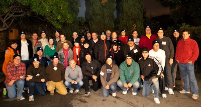 Sam Solakyan joins many CEO's on the Covenant House Sleep Out. Sleeping on the streets of Los Angeles, the event aims to emulate the conditions too many of America's youths experience as their everyday reality.  (PRNewsFoto/Global Holdings, Inc.)