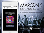 The all new Maroon 5 S.I.N. app was created by expert augmented reality and mobile development agency, Gravity Jack, and features exclusive content, music and videos, straight from the band, in augmented reality. (PRNewsFoto/Gravity Jack, Inc.)