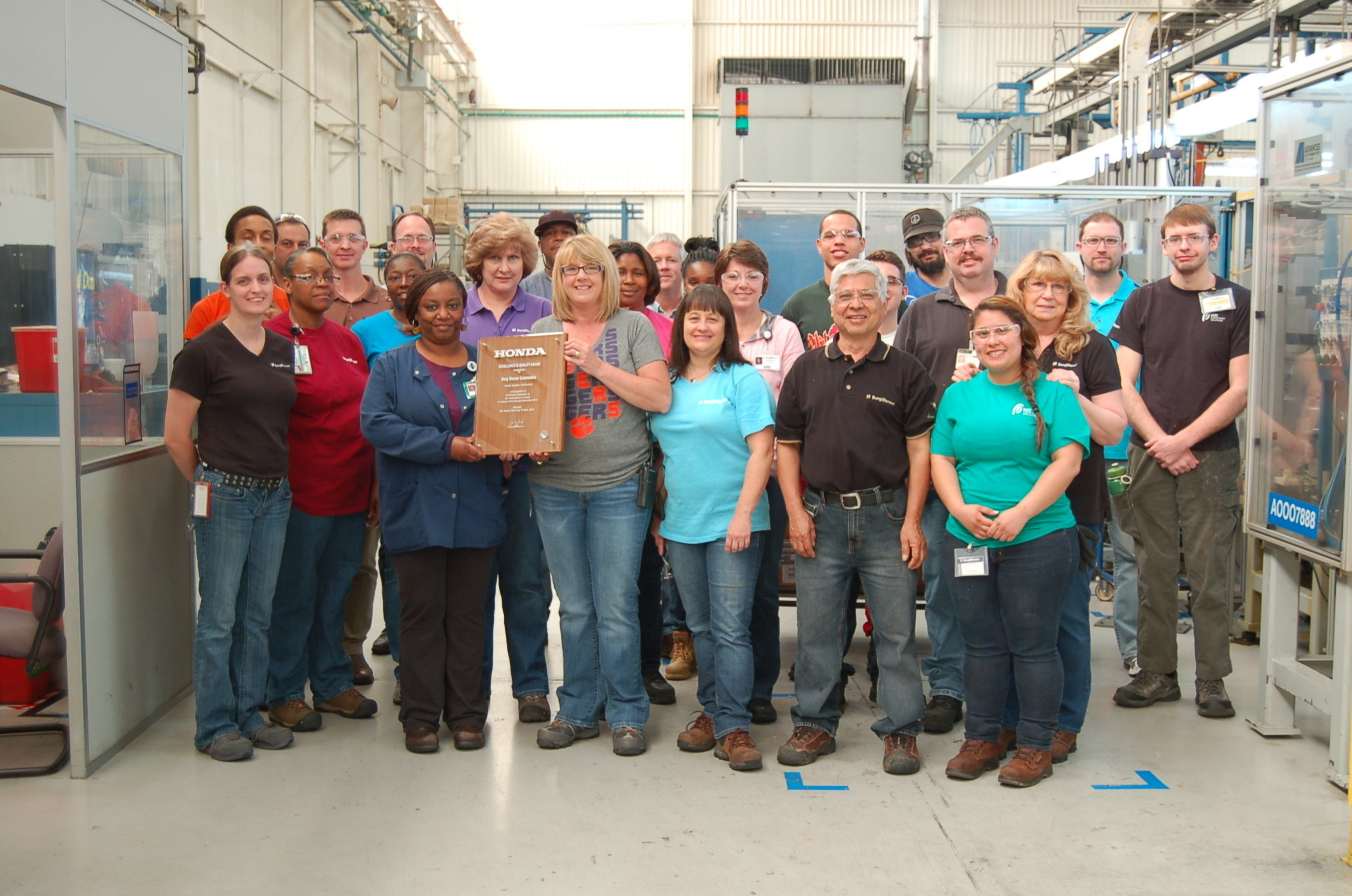 Employees From BorgWarneru0027s Manufacturing Facility In Seneca, South Carolina,  Proudly Display Their Latest Excellence