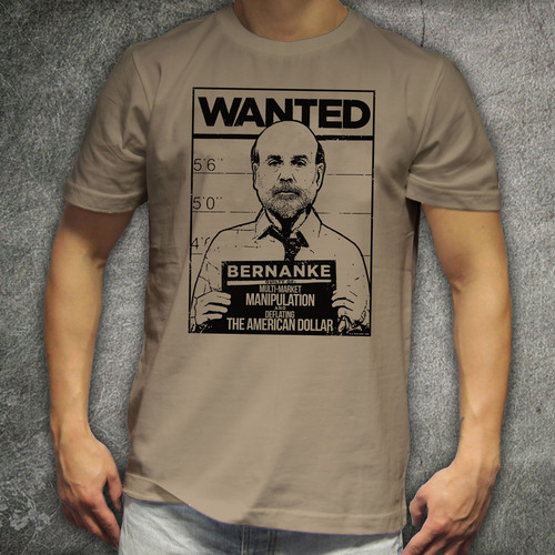 "Annuity Marketing executive puts Fed Chairman Bernanke's ""mug shot"" on a T-shirt. Robert Hock, president of Nest Egg Builders Corp., created the shirt to give senior citizens an outlet to protest Bernanke's fiscal policy of artificially low interest rates, which has forced many to invest in higher-risk options. Call 1(800) 227-6650, ext. 225, for more details.  (PRNewsFoto/Nest Egg Builders Corp.)"