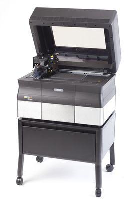 Objet30 Scholar Desktop 3D Printer on Stand with 3D Printed 3D Model