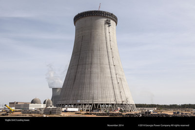 Cooling Tower at Georgia Power's new Plant Vogtle nuclear site near Augusta, Ga. (PRNewsFoto/Georgia Power)