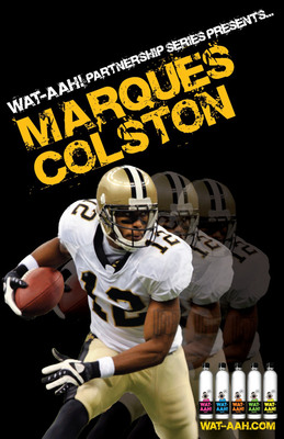 Marques Colston, Wide Receiver For The New Orleans Saints Joins WAT-AAH! to Fight Obesity and Encourage Healthy Lifestyles Among Kids!  (PRNewsFoto/WAT-AAH!)