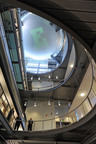 A view up at the new spherical plantarium in the new science complex at Eastern Michigan University. The complex is the largest single construction project in the history of the university.  (PRNewsFoto/Eastern Michigan University, Randy Mascharka)