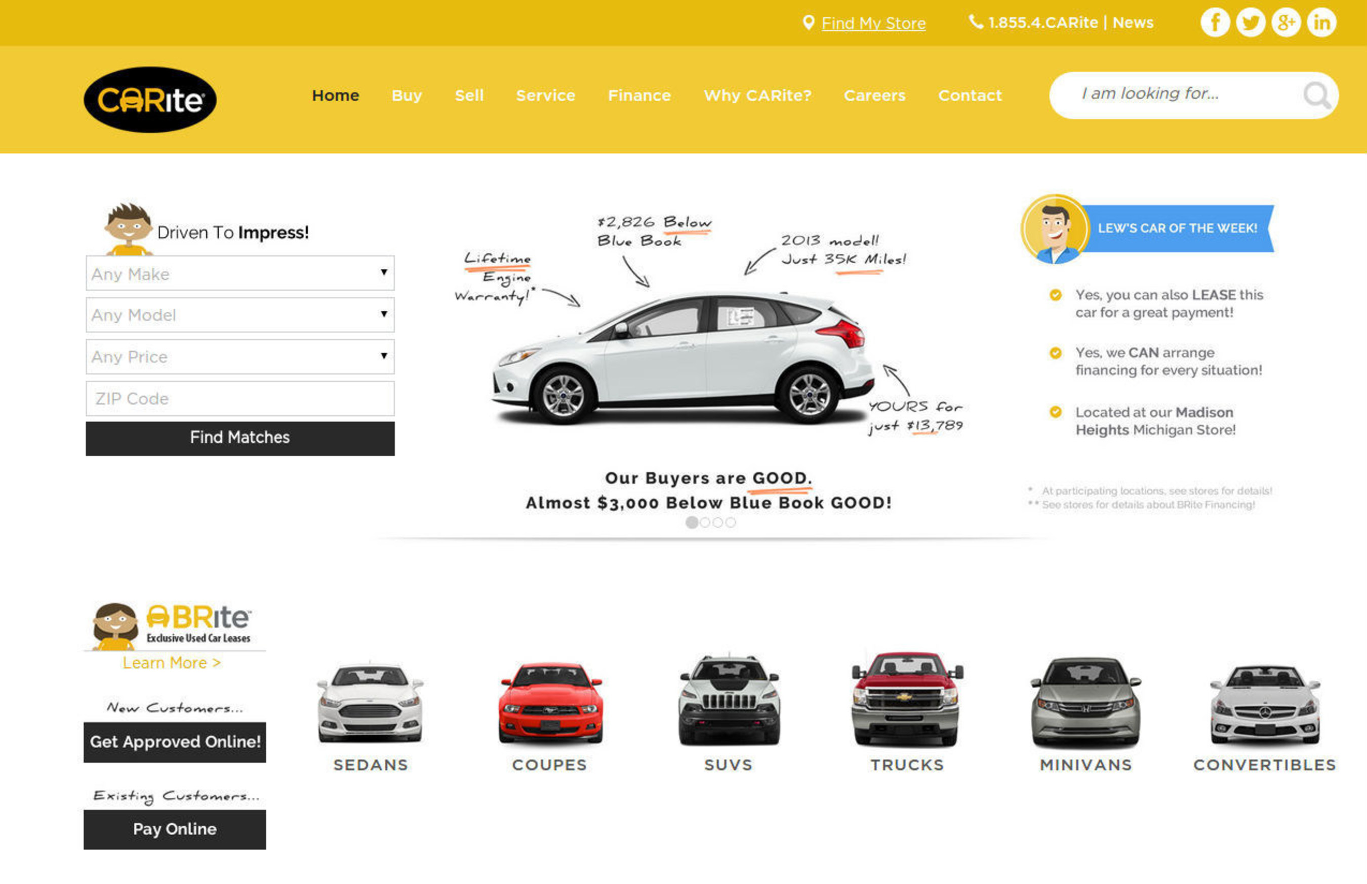 Expanding group of used car dealerships launches new website to improve online shopping experience