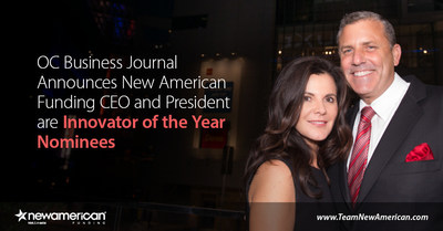 OC Business Journal Announces New American Funding CEO and President are Innovator of the Year Nominees.