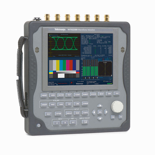 The WFM2300 provides an array of measurement and monitoring features that allow engineers to quickly isolate, diagnose, and resolve system issues. The WFM2300 provides Eye pattern and Jitter measurement capability as well as Cable simulator / margin tests, Optical interfaces with SFP (Small Form factor Pluggable) module, Dolby E monitoring, Loudness meter in addition to the all features available in the existing WFM2200.  (PRNewsFoto/Tektronix, Inc.)