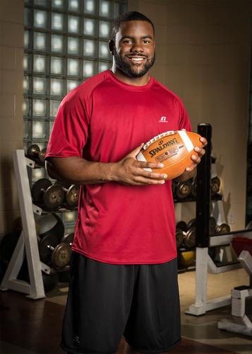 Mark Ingram, Russell Athletic(R) brand ambassador New Orleans running back.  (PRNewsFoto/Russell Athletic)