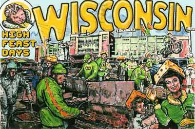 Wisconsin Tailgating by Gregory Martens. Courtesy of the John Michael Kohler Arts Center.