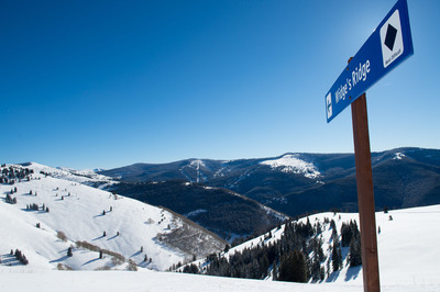 Vail's legendary Sun Down Bowl on a bluebird December day prior to opening for the 2013-2014 season. (PRNewsFoto/Vail Resorts, Inc., Jack Affleck, Vail Resorts) (PRNewsFoto/VAIL RESORTS, INC.)