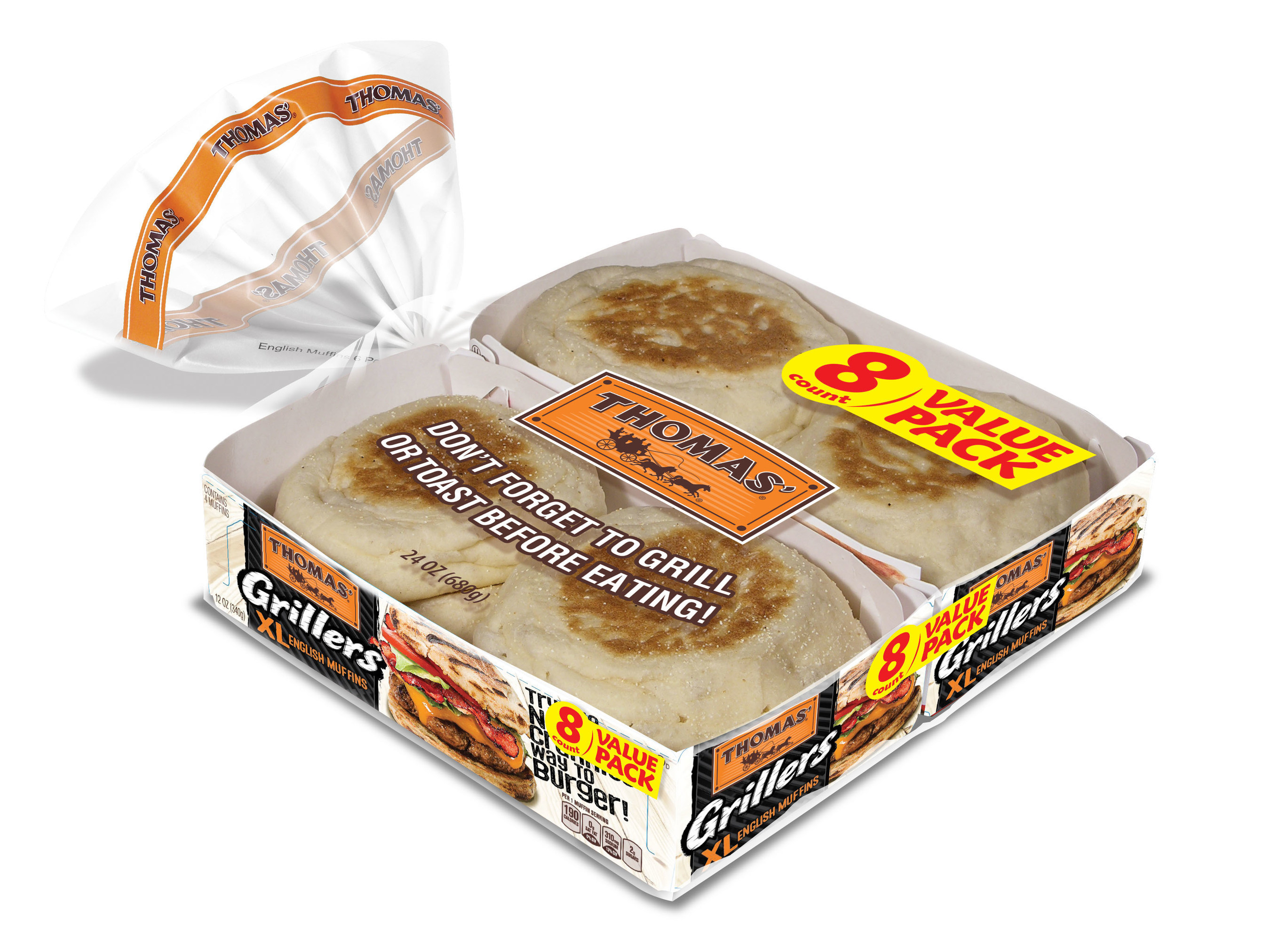 Thomas' Grillers XL English Muffins