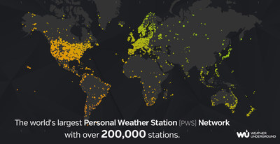 Weather Underground Personal Weather Station (PWS) Network