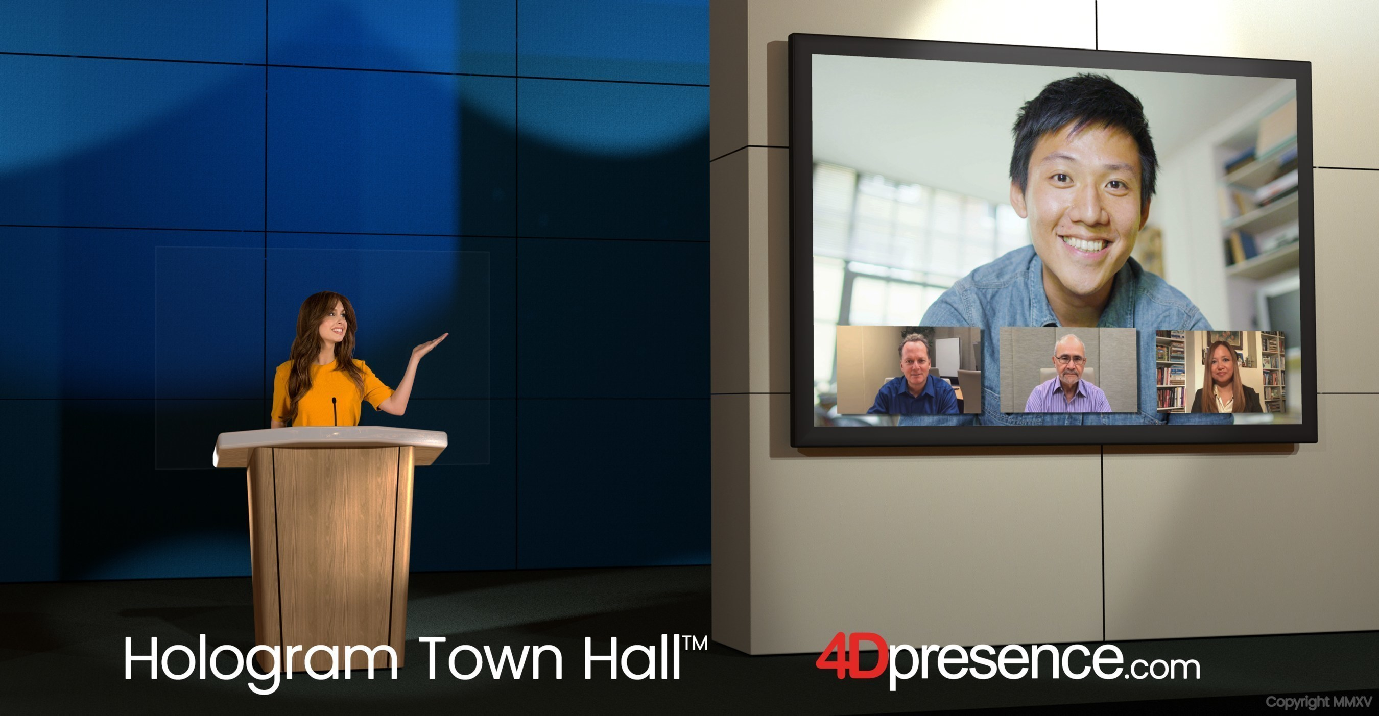 The Holographic Town Hall™ for Presidential Candidates and National Issues Launches, Created by