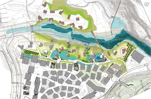 Plans for the exclusive villa community of 28 homes in Andermatt Swiss Alps.