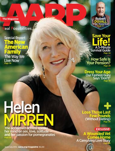 Acclaimed actress Helen Mirren talks sex, solitude & stripper heels in the latest issue of @AARPMag.  (PRNewsFoto/AARP)