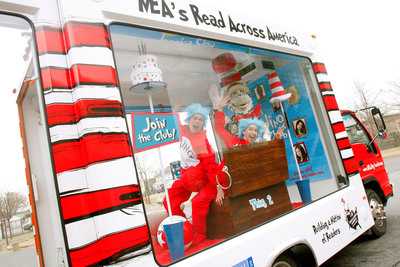NEA's Cat-a-Van Reading Tour Hits the Road to Get Kids Reading, Brushing.  (PRNewsFoto/National Education Association)