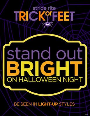 Stride Rite Children's Group Halloween Safety. (PRNewsFoto/Stride Rite Children's Group) (PRNewsFoto/STRIDE RITE CHILDREN'S GROUP)