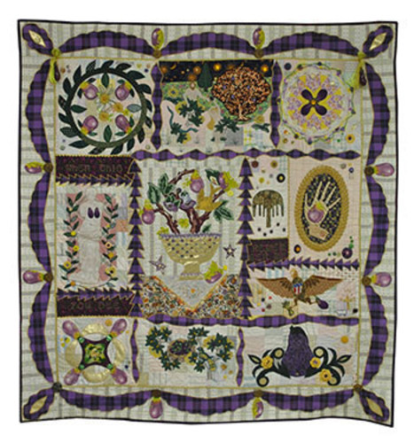 The Eggplant that Ate Baltimore by Teddy Pruett (PRNewsFoto/National Quilt Museum)