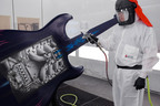 Sherwin-Williams Covers Rock Hall, United Way Guitarmania Artwork.  (PRNewsFoto/Sherwin-Williams Automotive Finishes)