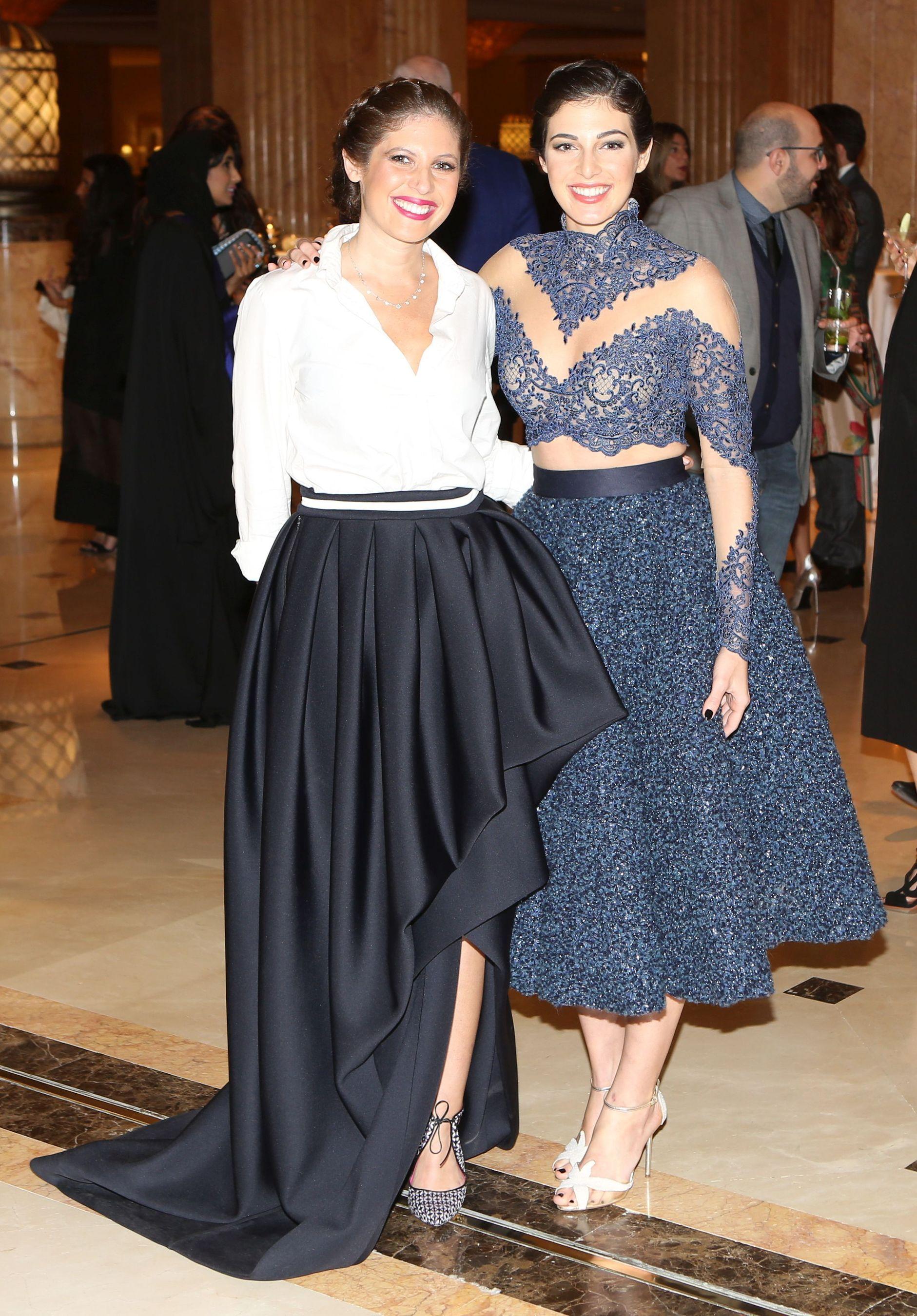 Sofia Guellaty and Razane Jammal (PRNewsFoto/Farfetch and Style_com_Arabia)