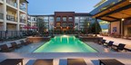View of the newly constructed pool and outdoor patio space at Union at Carrollton Square.