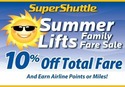 This summer save the environment by sharing a ride to the airport for your summer vacation.  SuperShuttle is giving you 10 percent of your total fare, so save some money and some green house gases this summer! (PRNewsFoto/SuperShuttle)