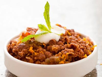Rhubarb Quinoa Crunch.  (PRNewsFoto/LYFE Kitchen)