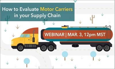 Join BROWZ, March 3, 2016 at 12pm MST for a webinar on How to Evaluate Motor Carriers in your Supply Chain.