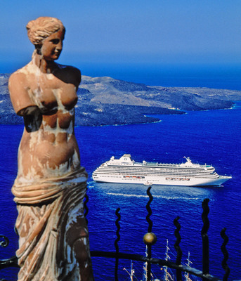 """Crystal Cruises' October 12 """"Ancient Lands and Cultures"""" voyage visits Athens, Santorini, Ashdod, Haifa, Bodrum, Corfu, Dubrovnik, and Venice over 12 days of luxury aboard Crystal Serenity.  (PRNewsFoto/Crystal Cruises)"""
