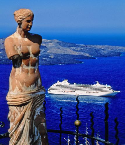 "Crystal Cruises' October 12 ""Ancient Lands and Cultures"" voyage visits Athens, Santorini, Ashdod, ..."