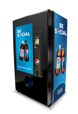 "PepsiCo Introduces Social Vending System(TM), the Next Generation in Interactive Vend Technology. Engaging Platform Delivers Consumers Entertainment and Fun Along With Beverages - Gift a Friend, Share a Video, Commit ""Random Acts of Refreshment"". Innovative Technology Reinforces Company's Commitment To Developing ""Smart"" Equipment. Visit multimedia.pepsico.com to see how the Social Vending System works.  (PRNewsFoto/PepsiCo)"