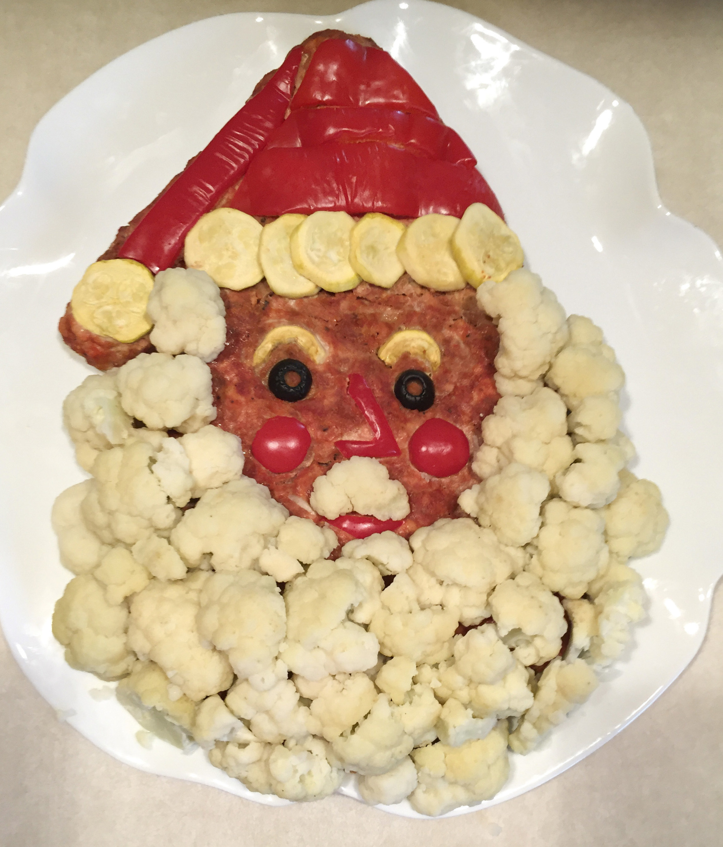 """This Santa is one example of how creative meatloaf can liven up the dinner table, according to Carol Falkowski, author of """"Meatloaf Outside the Pan."""""""