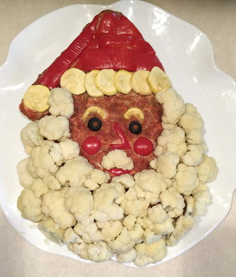 "This Santa is one example of how creative meatloaf can liven up the dinner table, according to Carol Falkowski, author of ""Meatloaf Outside the Pan."""
