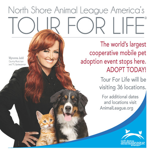 Country Music Legend Wynonna Judd Named National Spokesperson for North Shore Animal League