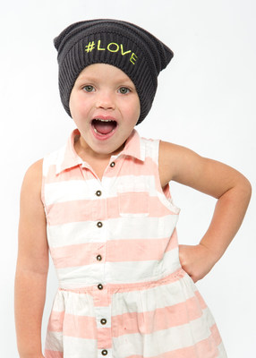 St. Jude Patient Mabry, age 4, wears the Kmart Giving Hat which raises money to help in the fight against childhood cancers and other life-threatening diseases.