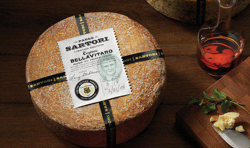Sartori Cognac BellaVitano Cheese, Super Gold Medal Winner at the 2012 World Cheese Awards.  ...